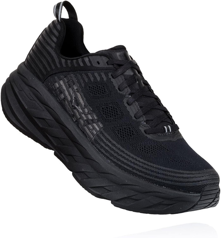 Hoka One One(ホカオネオネ) メンズ 男性用 シューズ 靴 スニーカー 運動靴 Bondi 6 - 黒/黒 10.5 D - Medium [並行輸入品]