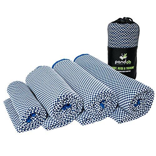pandoo Bambus Reisehandtuch - Ultraleicht, extrem saugfähig, antibakteriell & schnelltrocknend | Besser als herkömmliche Mikrofaser | Sport-, Reise-, Trekking- & Badetuch - alle Größen und 5 Farben