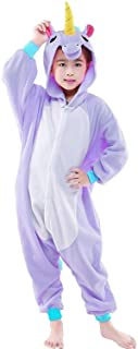 CANASOUR Kids Unicorn Onesie Animal Unisex Pajamas Children (4-10T)