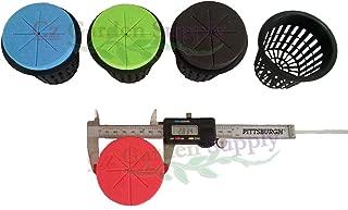 25 Pack - 3 inch Heavy Duty Net Pots + Cloning Collar Inserts Combo for Kratky Hydroponics Wide Mouth Mason Jars (3 inch Pots + Blue Inserts)