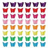 Clips de pelo de mariposa, coloridos mini mariposa pinza para el pelo, pinzas para la mandbula de las nias, accesorios para el pelo para nias, mujeres y nios (50 unidades)