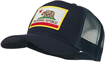 e4Hats.com California State Flag Patched Twill Mesh Cap