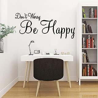 WSYYW Cute Happy Phrase Kindergarten Wall Sticker Vinyl Art Applique Baby Children Room Art Deco Wallpaper Brown M 28cm X 65cm