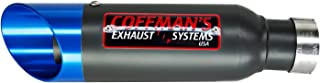 Coffman's Shorty Exhaust for Suzuki GSXR 1000 (2012-2016) Sportbike with Blue Tip