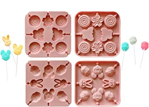 Gummy Bear Mold, Silicone Molds Chocolate Mold, Lollipop Mold Pink Chocolate Melts, Candy Making Supplies for Chocolate, F...