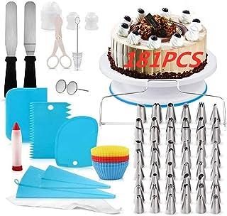 Kit de Pâtisserie Plateau Tournant de Gâteau,Plateau à Gâteaux Kit,Équipement de décoration de gâteaux,Douilles Pâtisseri...