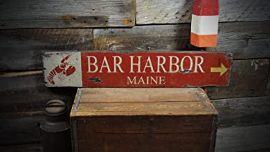 Custom Bar Harbor Maine Lobster Sign Decorative Metal Signs for Women Wall Post Tin Sign Present