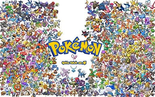 Poster Pokemon Anime Game Movie (13 x 19)