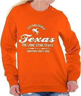 Classic Teaze Texas The Lone Star State Athletic TX Gift Crewneck Sweatshirt