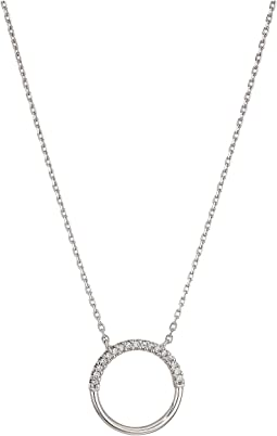 7133f94d083d7 Michael Kors. Precious Metal-Plated Sterling Silver Pavé Heart Necklace.   150.00. New. Silver