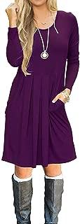 Best plum long sleeve dress Reviews