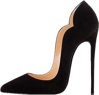 EDEFS - Scarpe da Donna - Scarpe col Tacco - Scarpe Donna Nero - Tacco A Spillo 12 CM