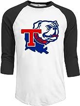 ElishaJ Men's Raglan 3/4 Sleeve T-Shirt Louisiana Tech University Black