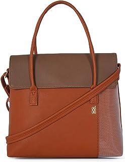 Baggit Spring-Summer 2021 Faux Leather Women's Satchel Handbag (Tan) (Abeline)