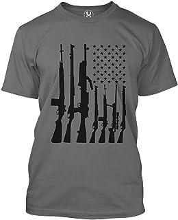 Haase Unlimited Machine Gun American Flag - 2nd Amendment Men's T-Shirt