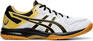 ASICS Gel-Rocket 9 Men's Volleyball Shoes, White/Black, 10 M US