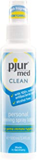 pjur med CLEAN – hygienspray med antibakteriell ingrediens – för skonsam rengöring av huden och intimt område – 1-pack (1 ...