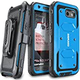 Galaxy J3 2017/J3 Prime/J3 Emerge/J3 Eclipse/Express Prime 2/Luna Pro/Amp Prime 2/Sol 2 Case,COVRWARE [Aegis] Built-in [Screen Protector] Heavy Duty Rugged Holster [Belt Clip][Kickstand] Blue