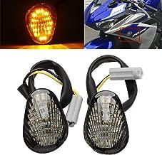 1Pair Smoke LED Flush Mount Turn Signals Indicators Blinkers Light for YAMAHA YZF R1 R6 R6S 2006 2007 2008 2009 2010 2011 2012 2013 2014
