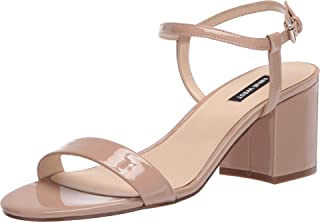 NINE WEST Women's Ankle Strap, 2 Piece Sandal Heeled