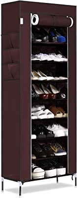Anva Easy to Assemble & Light Weight Foldable 9 Layer 9 Grid Shelves Shoe Rack