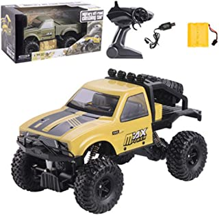 Off-Road RC Cars,Crawler Climb Remote Controls Racing Car,2.4Ghz Electric Radio Controller Trucks,Semi-Truck RTR Kids Climb Truck Kids Toy for Boys Adult (Yellow A)