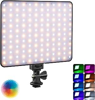 Weeylite Sprite20 RGB 撮影ライト LED ライト 薄型 撮影用補助灯 265球 二色温度と輝度調整 CRI95+ 摄影灯具 液晶ディスプレイ アプリ調整可 17種類シーン 軽量 カメラ照明道具 写真撮影/ビデオ撮影/音楽M...