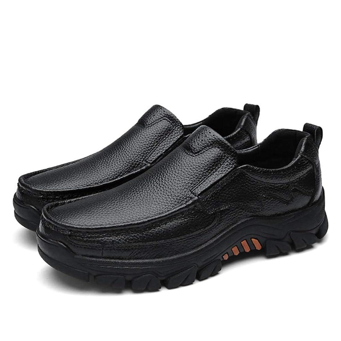 苛性キノコ注釈[シュウカ] ローファー メンズ ウォーキングシューズ 27.0cm カジュアルシューズ 男性 ソフトボトム スニーカー メンズファッション レザー 人気 ブラック ローカット コーディネートしやすい クラシック 運動靴 柔軟ウォーキング