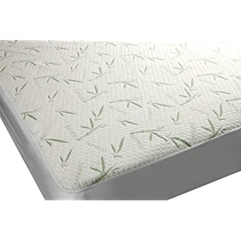 Elegant Comfort Bamboo-MProtector-Queen-Green Premium Bamboo 100/% Waterproof Protector-Vinyl Free-Fitted Mattress Cover Hypoallergenic Breathable Cool Flow Technology Queen 16 Deep Pocket Green