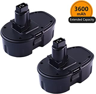 [Upgraded to 3600mAh] ENERMALL 18V 3.6Ah Ni-MH Replacement for Dewalt 18 Volt XRP Battery DC9096 DC9098 DC9099 DW9095 DW9096 DW9098 DE9039 Cordless Power Tool - 2 Packs