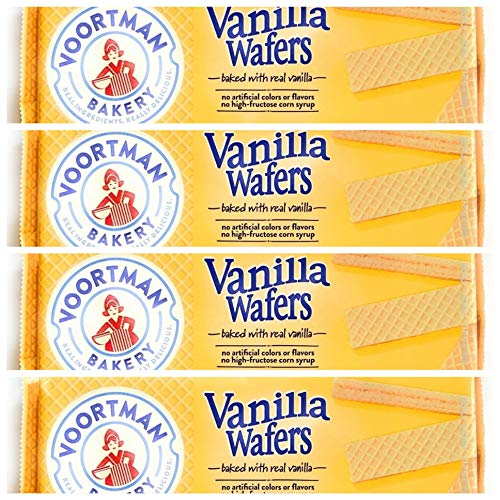Voortman Bakery Vanilla Wafers, oz., 10.6 oz, Pack of 4 for a total of 42.40 oz – Wafers Baked with Real Vanilla, No Artificial Colors, Flavors or High-Fructose Corn Syrup