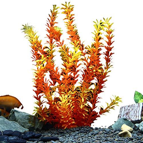 CEALEONE Aquarium Landscaping Simulatie Water Gras - Gesimuleerd Water Gras Aquarium Landscaping Plant Aquarium Decoratieve Nep Visgras Kamer Decoratie(3st)