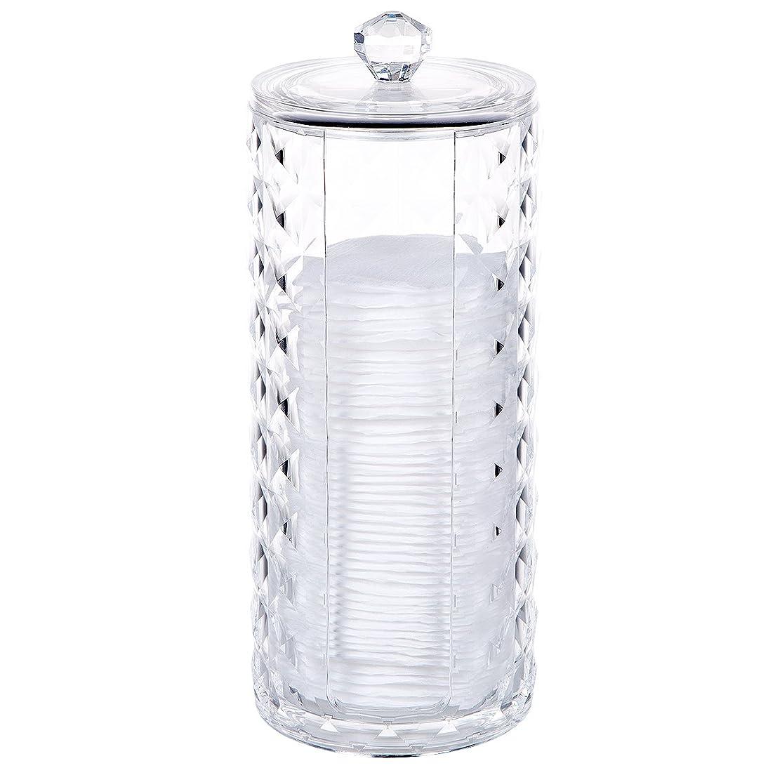 コットン収納 綿棒収納ボックス アクリル コスメ小物用品?化粧品収納ケース 透明 (コットン収納)