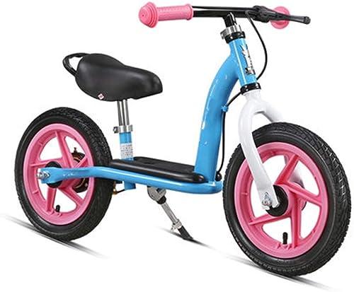 mas barato Bicicleta Bicicleta Bicicleta de Equilibrio 12  para 2 años, 3 años, 4 años - Freno de Tambor, reposapiés, Soporte for Bicicleta, neumáticos ( Color   azul )  tienda de venta