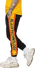 Floette Stripe Track Pants Casual Athletic Jogger Hip Hop Drawstring Pants Side Striped Color Unisex