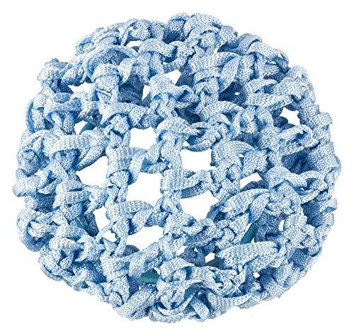 tanzmuster ® Duttnetz Ballett Kinder - Clara - Knotennetz für den perfekten Dutt (mit Haargummi) hellblau