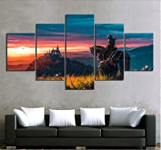 JUNEWIND Canvas Painting Wall Artwork Prints Canvas Pictures Home Decor 5 Pieces The Witcher 3 Game Paintings Modern HD Poster Hotel Modular Living Room-Frameless
