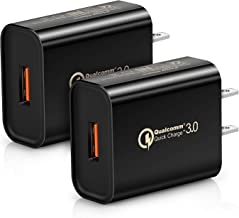 Quick Charge 3.0, 2-Pack Boxeroo 18W USB Wall Charger (Quick Charge 2.0 Compatible) for Galaxy S10/S9/S8/Edge/Plus, Note 8/7, LG G4, HTC One A9/M9, Nexus 9, iPhone, iPad and More