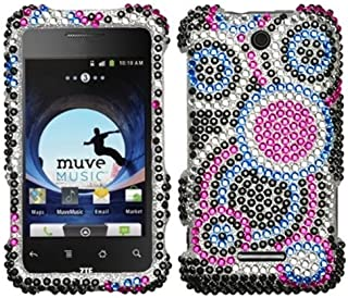 Aimo ZTEX500HPCDM015NP Dazzling Diamante Bling Case for ZTE Score X500 - Retail Packaging - Bubble