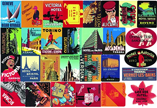 CHNLML Sticker Pack (56-Pcs) Hotel Style Graffiti Sticker Decals Vinyls for Laptop,Kids,Teens,Cars,Motorcycle Bicycle Skateboard Luggage Bumper Stickers Hippie Decals Bomb Waterproof