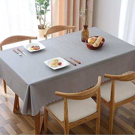 Rectangular Lavables Manteles Clip De Dinero A Prueba De Aceite Comedor Mesa De Cafe Casa Exterior-a 60x60cm 24x24inch TL PVC Impermeable Mantel Transparente