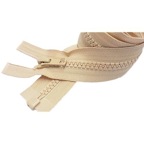 31 inch Ivory Beige Separating #5 Vislon YKK Zipper New!