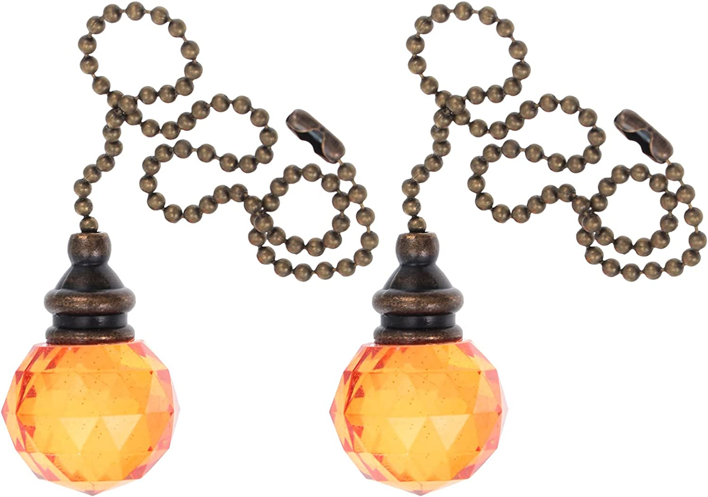 ibasenice Cadena de Extracción de Cristal Cadena de Extracción de Ventilador de Techo Cadena de Luz Extensor de Lámpara Cadena de Luz de Prisma Cadenas de Lámpara para Ventilador de Techo