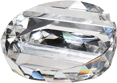 Waltz&F Crystal Glass business card holder Paperweight office Home Decoration