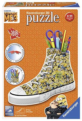 Ravensburger 3D Puzzle 11262 Sneaker Minions - Praktischer Stiftehalter - 108 Teile - Schreibtisch-Organizer für Kinder ab 8 Jahren