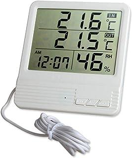 XYXZ Higrómetro Termómetro Digital Medidor Temperatura Interior Monitor De Humedad Fecha Hora Pantalla Temporizador Funció...