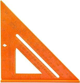 Swanson Tool T0118 Speedlite Square Layout Tool, Orange, made of High Impact Polystyrene