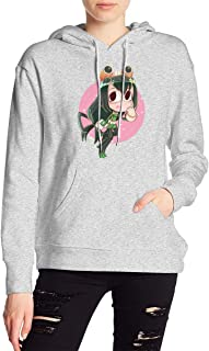 My Hero Academia Boku No Hero Tsuyu Asui Froppy Hoodies Sweatshirt Adult Pullovers for Women