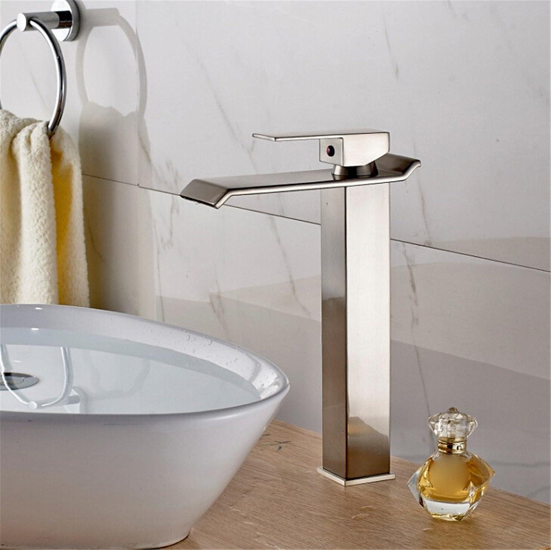 ETERNAL QUALITY Bad Waschbecken Wasserhahn Küche Waschbecken Wasserhahn Mischbatterie Alle Kupfer Hei Und Kalt Nickel Gebürstet Waschtischmischer BQ548ca