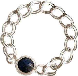 Gemshine - Anneau - Bague - Argent 925 - Saphir - Bleu - Mobile - Flexible